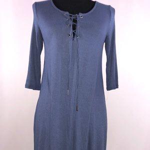 Soprano blue women Sz Small Adjustable String tie